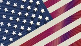 Los E.E.U.U. señalan por medio de una bandera en estilo del halo que brilla intensamente Fotos de archivo