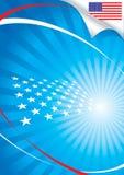 Los E.E.U.U. señalan por medio de una bandera y fondo Imagenes de archivo