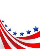 Los E.E.U.U. señalan por medio de una bandera en estilo   Imágenes de archivo libres de regalías