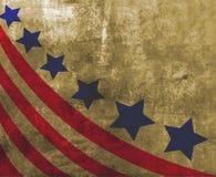 Los E.E.U.U. señalan por medio de una bandera en estilo Fotos de archivo libres de regalías