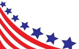 Los E.E.U.U. señalan por medio de una bandera en vector del estilo Fotografía de archivo libre de regalías