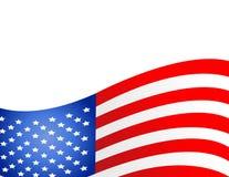 Los E.E.U.U. señalan por medio de una bandera en vector del estilo Foto de archivo libre de regalías