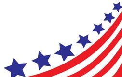Los E.E.U.U. señalan por medio de una bandera en vector del estilo Fotos de archivo