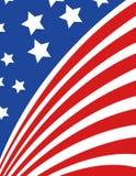 Los E.E.U.U. señalan por medio de una bandera en vector del estilo Fotografía de archivo