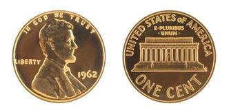Los E.E.U.U. un centavo Imagenes de archivo
