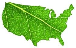 Los E.E.U.U. verdes Foto de archivo