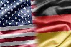 Los E.E.U.U. y Alemania Fotografía de archivo
