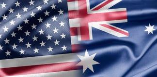 Los E.E.U.U. y Australia Fotos de archivo