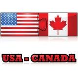 Los E.E.U.U. y Canadá stock de ilustración