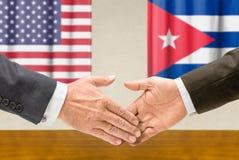 Los E.E.U.U. y Cuba Fotografía de archivo