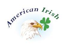Los E.E.U.U. y emblemas irlandeses Foto de archivo libre de regalías
