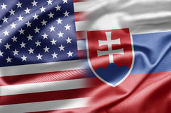 Los E.E.U.U. y Eslovaquia Imagen de archivo libre de regalías
