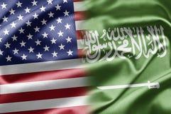 Los E.E.U.U. y la Arabia Saudita Imagen de archivo libre de regalías