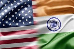 Los E.E.U.U. y la India Fotos de archivo libres de regalías