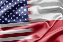Los E.E.U.U. y Polonia Fotografía de archivo libre de regalías