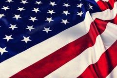 Los E.E.U.U., bandera, fondo Cierre para arriba patriotismo del concepto, Día de la Independencia fotografía de archivo libre de regalías