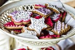 Los E.E.U.U., Día de la Independencia, abastecimiento, comida fría dulce de la torta de la galleta Foto de archivo