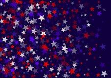 Los E.E.U.U. Día de la Independencia 4 de julio protagonizan el fondo de la bandera del vector del vuelo en colores de la bandera libre illustration