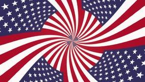 Los E.E.U.U. espirales hipnóticos mesmerianos sin fin señalan la acción hermosa agradable fresca 4k del lazo de la animación cali libre illustration