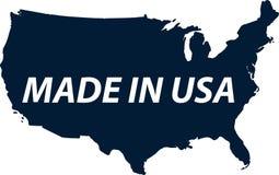 Los E.E.U.U. hechos Hecho en el sello de los Estados Unidos de América Texto blanco en b Fotos de archivo libres de regalías