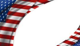 Los E.E.U.U. o diseño de la bandera de América en el fondo blanco Fotografía de archivo libre de regalías