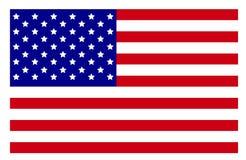 Los E.E.U.U. señalan la alta resolución por medio de una bandera fotografía de archivo