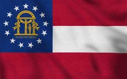 Los E.E.U.U. señalan por medio de una bandera de Georgia que agita suavemente en el viento libre illustration