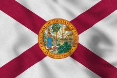 Los E.E.U.U. señalan por medio de una bandera de la Florida que agita suavemente en el viento libre illustration