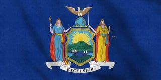Los E.E.U.U. señalan por medio de una bandera de Nueva York que agita suavemente en el viento libre illustration
