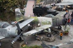 Los E.E.U.U. viejos tiraron abajo de caza a reacción y del bombardero B52 durante la guerra de Vietnam Fotos de archivo libres de regalías