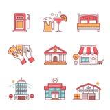 Los edificios comerciales cantan el sistema Imagen de archivo libre de regalías