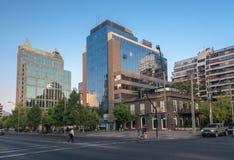 Los edificios de cristal modernos Santiago hacen Chile Fotografía de archivo