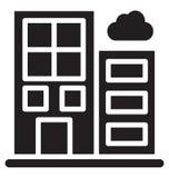 Los edificios de la ciudad aislaron el icono del vector que puede modificarse o corregir f?cilmente libre illustration