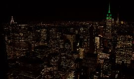 Los edificios de Manhattan, Nueva York Imagen de archivo libre de regalías