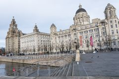 Los edificios de Pierhead en Liverpool Merseyside Inglaterra Fotografía de archivo