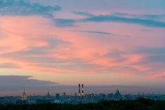 Los edificios del centro de ciudad de Moscú Foto de archivo libre de regalías