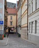 Los edificios históricos en la Riga vieja Foto de archivo libre de regalías