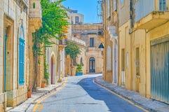 Los edificios históricos en Mosta, Malta fotografía de archivo libre de regalías