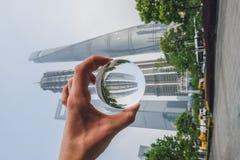 Los edificios modernos en Lujiazui financian el distrito, Shangai, China Fotografía de archivo