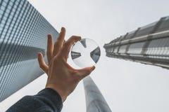 Los edificios modernos en Lujiazui financian el distrito, Shangai, China Fotos de archivo libres de regalías