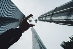 Los edificios modernos en Lujiazui financian el distrito, Shangai, China Fotos de archivo