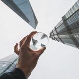 Los edificios modernos en Lujiazui financian el distrito, Shangai, China Imagen de archivo libre de regalías