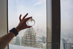 Los edificios modernos en Lujiazui financian el distrito, Shangai, China Fotografía de archivo libre de regalías