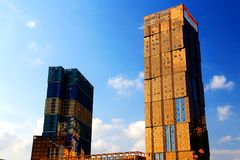 Los edificios modernos en Shenzhen Fotos de archivo libres de regalías