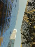 Los Edificios. A view of buildings in wall street Stock Image