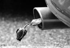 Los efectos de la contaminación causados por los coches Fotografía de archivo libre de regalías