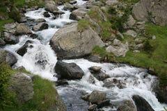 Los efectos del río y de la avalancha fotografía de archivo