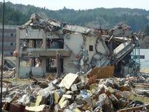 Los efectos del tsunami en Japón El desastre ocurrió en Japón en 2011 Foto de archivo