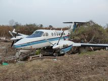 Los efectos del tsunami en Japón El desastre ocurrió en Japón en 2011 Foto de archivo libre de regalías