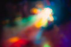 Los efectos especiales de la luz del club del disco del color y el laser muestran imágenes de archivo libres de regalías